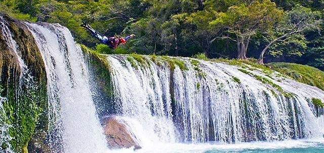 Waterfall Micos, Huasteca Potosina.